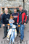 Tom kelliher, Jamie Kelliher, Gene O'Sullivan and Ger O'Sullivan at the Honda 50 run in Beaufort on Sunday
