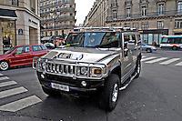 Hummer H3 parked in a fashionable part of Paris..©shoutpictures.com.john@shoutpictures.com