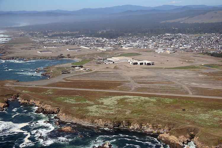 aerial view of Fort Bragg mill site