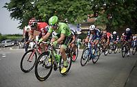 Wouter Wippert (NLD/Cannondale) &amp; Jurgen Roelandts (BEL/Lotto-Soudal) racing side by side<br /> <br /> Heistse Pijl 2016