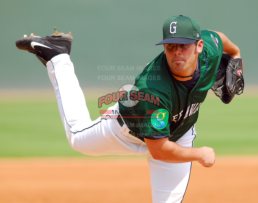 3 September 2007: Chad Povich of the Greenville Drive, Class A South Atlantic League affiliate of the Boston Red Sox, in a game against the Asheville Tourists at West End Field in Greenville, S.C. Photo by:  Tom Priddy/Four Seam Images