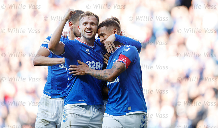 28.09.2018 Rangers v Aberdeen: Greg Stewart and James Tavernier