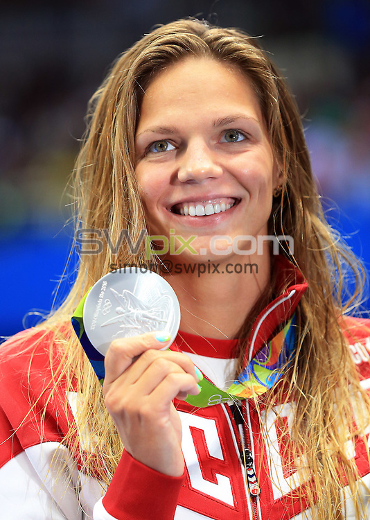 RIO DE JANEIRO, BRAZIL - AUGUST 11:  Yulia Efimova of Russia wins Silver in the Women's 200m Breaststroke Final on Day 6 of the Rio 2016 Olympic Games at the Olympic Aquatics Stadium on August 11, 2016 in Rio de Janerio, Brazil.  (Photo by Vaughn Ridley/SWpix.com)