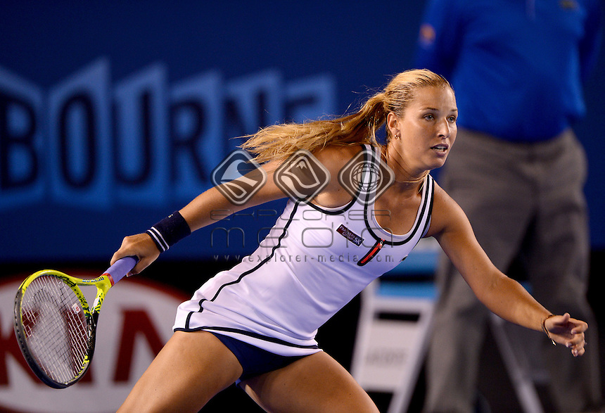 Dominika Cibulkova (SVK)wins her 4th round match to advance to the Quarter Finals<br /> 2015 Australian Open Tennis / Day 8<br /> Grand Slam of Asia Pacific<br /> Melbourne Park, Vic Australia<br /> Monday 26 January 2015<br /> &copy; Sport the library / Jeff Crow