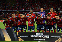 MEDELLIN - COLOMBIA: 16 - 05 - 2017: Los Jugadores de Deportivo Independiente Medellin, posan para una foto, durante partido de la fase de grupos, grupo 3, fecha 5 entre Deportivo Independiente Medellin de Colombia y Emelec de Ecuador por la Copa Conmebol Libertadores Bridgestone 2017 en el Estadio Atanasio Girardot, de la ciudad de Medellin. / The players Deportivo Independiente Medellin, pose for a photo during a match for the group stage, group 3 of the date 5th, between Deportivo Independiente Medellin of Colombia and Emelec of Ecuador for the Conmebol Libertadores Bridgestone Cup 2017, at the Atanasio Girardot, Stadium, in Medellin city. Photos: VizzorImage / Leon Monsalve / Cont.