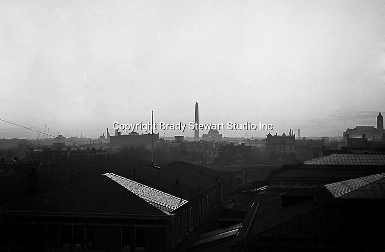 Washington DC: A view of the Washington and Jefferson Memorials from a hotel roof - 1912. Brady and Sarah stayed at the hotel while on their honeymoon