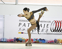 CALI – COLOMBIA – 21 – 09 – 2015: Chiara Giron, deportista de Argentina, durante la prueba de Solo Danza Juvenil Damas en el LX Campeonato Mundial de Patinaje Artistico, en el Velodromo Alcides Nieto Patiño de la ciudad de Cali. / Chiara Giron, sportwoman from Argentina, during the Compulsory Solo Dance Junior Ladies test, in the LX World Championships Figure Skating, at the Alcides Nieto Patiño Velodrome in Cali City. Photo: VizzorImage / Luis Ramirez / Staff.