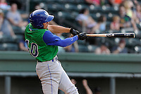 Left fielder Dominique Taylor (40) of the Lexington Legends in a game against the Greenville Drive on Wednesday, June 4, 2014, at Fluor Field at the West End in Greenville, South Carolina. Lexington won, 9-3. (Tom Priddy/Four Seam Images)