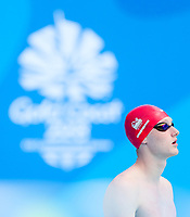 Picture by Alex Whitehead/SWpix.com - 05/04/2018 - Commonwealth Games - Swimming - Optus Aquatics Centre, Gold Coast, Australia - Luke Greenbank of England competes in the Men's 100m Backstroke heats.