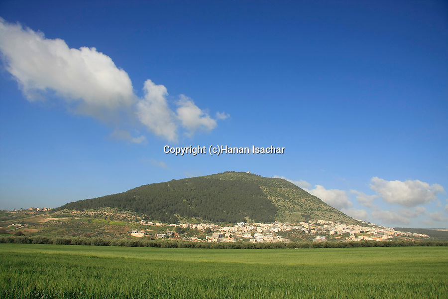 Israel, Jezreel valley. Bedouin village Shibli at the base of Mount Tabor