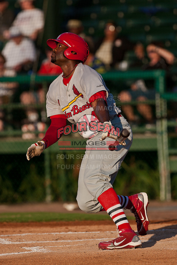 Jarred Bogany of the Palm Beach Cardinals during the game at Jackie Robinson Ballpark in Daytona Beach, Florida on July 27, 2010. Photo By Scott Jontes/Four Seam Images