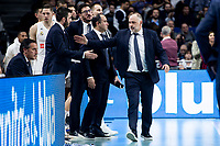 Coach Pablo Laso of Real Madrid during Turkish Airlines Euroleague match between Real Madrid and FC Barcelona Lassa at Wizink Center in Madrid, Spain. December 13, 2018. (ALTERPHOTOS/Borja B.Hojas) /NortePhoto.com