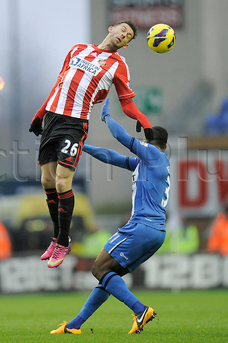 19.01.2013 Wigan, England.  Steven Fletcher of Sunderland in action during the Premier League game between Wigan Athletic and Sunderland at the DW Stadium.