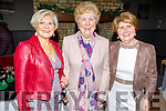 Eileen Doherty (Oakpark), Mae Nolan (Moyvane) and Phil Gildea (Tarbert) attending the Connect Kerry Women's Christmas in Style lunch in the Ashe Hotel on Sunday