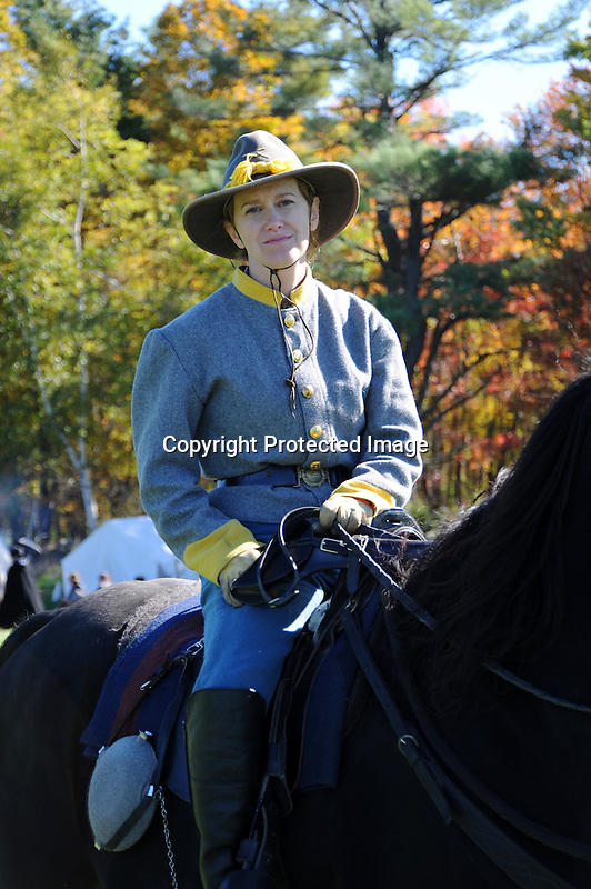 Civil War Reenactment Confederate Cavalry Soldier