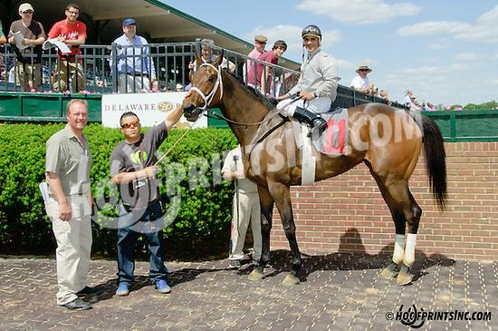 Jasser winning at Delaware Park racetrack on 5/31/14