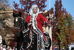 Riders with the Parading Arabians participate in the annual Nevada Day parade in Carson City, Nev. on Saturday, Oct. 29, 2016. <br />