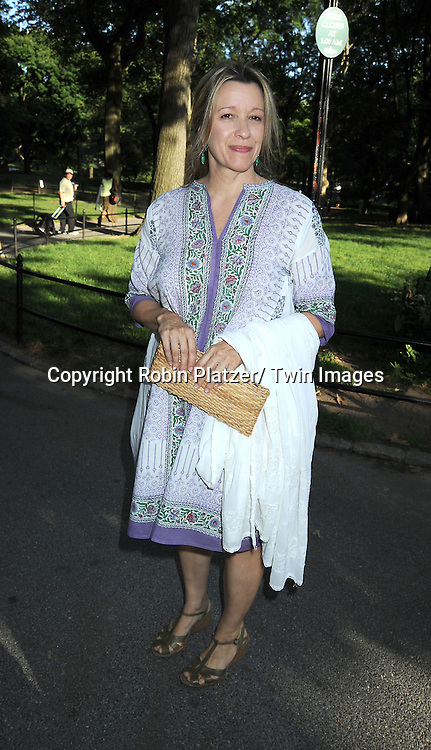 "actress Linda Emond attending the Public Theatre's Annual  Gala on June 21, 2010  at the opening of ""The Merchant of Venice"" at the Delacorte Theatre in Central Park in New York City."
