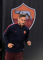 Roma&rsquo;s Francesco Totti arrives to warm up prior to the start of the Europa League Group E soccer match between Roma and Astra Giurgiu at Rome's Olympic stadium, 29 September 2016. Roma won 4-0.<br /> UPDATE IMAGES PRESS/Isabella Bonotto
