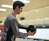 Nicholas DeChiaro of Plainview JFK rolls a frame during the final game of the Nassau County varsity boys bowling large schools championship at AMF Garden City Lanes  on Saturday, Feb. 3, 2018.