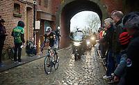 Edvald Boasson Hagen (Nor/MTN-Qhubeka) entering the french town of Cassel<br /> <br /> 77th Gent-Wevelgem 2015