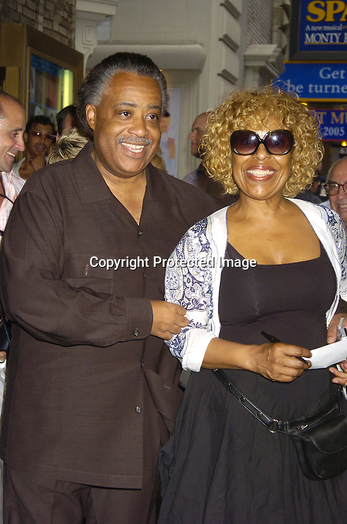 """Reverand Al Sharpton and Roberta Flack ..at The Broadway opening of """"Lennon"""" on August 14, 2005 at the Broadhurst Theatre in New York City. ..Photo by Robin Platzer, Twin Images"""