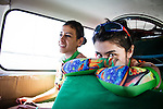 SULAIMANIYAH, IRAQ: Members of Newroz cycling club Lavan Ahmed (right) and Sozi Dilshad (left) arrive at Bazian near Sulaimaniyah for the last day of racing in a three day event.<br /> <br /> Nyan Yassin, 24, is a professional competitive cyclist in Sulaimaniyah in the semi-autonomous region of Iraqi Kurdistan.  She is the captain of an all-female club called Newroz Club, which is the only cycling club for women in Sulaimaniyah, although there are other clubs around Iraq.  She trains and competes on roads that are badly surfaced and busy with traffic.<br /> <br /> Nyan was the first woman to start cycling in Sulaimaniyah.  She was always competitive and after trying her hand at different sports she settled on cycling.  She is now the top female cyclist in Iraq.  Her nickname is MigMig after the noise made by the cartoon character Roadrunner.<br /> <br /> Despite being clearly talented at her sport Nyan knows that in a couple of years she will have to get married and then abandon it as, in the traditional society that Kurdistan is, being a wife and a competitive sportswoman at the same time is not an option.<br /> <br /> Photo by Gona Hassan/Metrography
