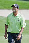 August 4, 2012:  Miguel Angel Carballo from Buenos Aires, Argentina smiles after sinking a long putt on the 6th hole during the third round of the 2012 Reno-Tahoe Open Golf Tournament at Montreux Golf & Country Club in Reno, Nevada.