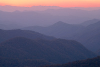 Sunset from Caney Fork Overlook<br />