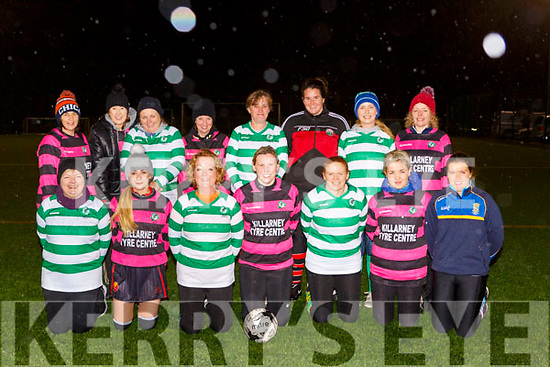 Ladies from Holy Cross Mercy NS who playedd a charity soccer game in Celtic Park to help raise funds for their sensory rooms in the school front row l-r: Kay Doona, Katie O'Connor, Doreen Moynihan, Mairead O'Donoghue, Karen Smith, Nessa Casey, Aisling Mahony, Back row: Noreen O'Connor, Ellen McGillicuddy, Kathleen Harnett, Breda Flanagan, Michelle O'Brien, Catriona Sheehy Mairead Kennedy, Maureen Dalton
