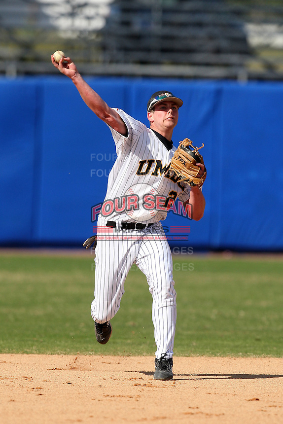 March 14, 2010:  Second Baseman Rich Conlon of UMBC in a game vs. Bucknell at Chain of Lakes Stadium in Winter Haven, FL.  Photo By Mike Janes/Four Seam Images