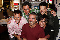 Jean Luc Brassard, Alain Dumas, Ghyslain Taschereau, Francois Etienne , , Pare, Bernard Fortin (or Patrice Belange NOT SURE) r pose at the launch of  Z TV fall 2006 Programmation, August 17 2006