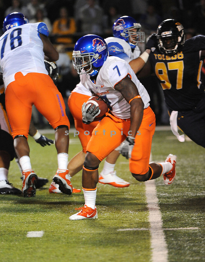 DJ HARPER, of the Boise State Broncos, in action during Boise States game against the Toledo Rockets on September 16, 2011, at the Glass Bowl in Toledo, OH. Boise State beat Toledo 40-15.