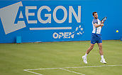 June 10th 2017,  Nottingham, England; ATP Aegon Nottingham Open Tennis Tournament day 1; Forehand from James Ward of Great Britain in his match against Mackenzie McDonald of USA