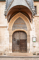 hospices de beaune, hotel dieu entrance beaune cote de beaune burgundy france