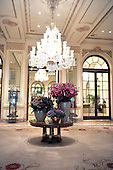 """Fifth Avenue entrance lobby of The Plaza Hotel in New York, New York on Wednesday, October 6, 2010.  The Plaza, which bills itself as """"the crown jewel of Manhattan's fabled Fifth Avenue"""" was recently renovated and partially converted to condominiums and retail. .Credit: Ron Sachs / CNP"""