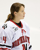 Stephanie Gavronsky (NU - 44) - The Northeastern University Huskies defeated the Union College Dutchwomen 4-1 on Saturday, October 3, 2009, at Matthews Arena in Boston, Massachusetts.