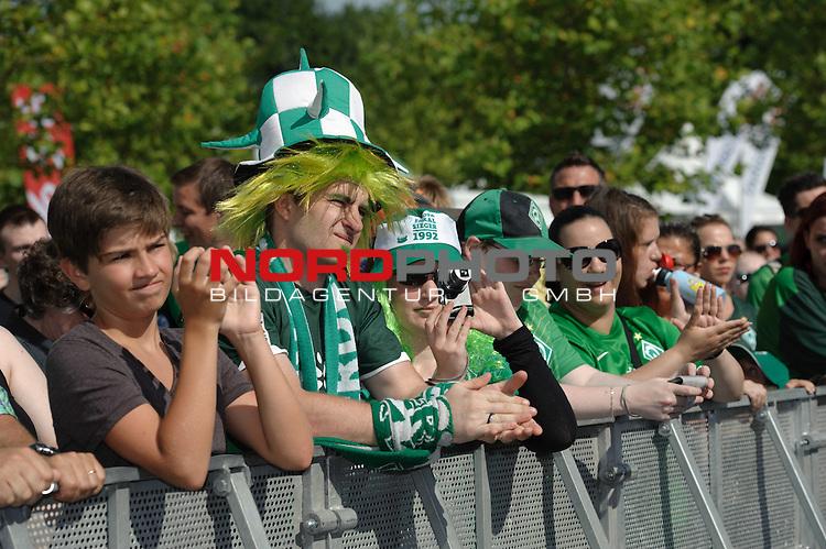 28.07.2013, Weserstadion, Bremen, GER, 1.FBL, Werder Bremen Tag der Fans 2013, im Bild Werder-Fans<br /> <br /> Foto &copy; nph / Frisch