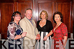 Social: Pictured at Listowel Badminton Clubs social in Listowel Arms Hotel on Saturday night are: Coleen Barrett, Lisselton; Anthony Barrett, Lisselton; Sharon Doolan, Listowel; & Betty Doolan, Listowel