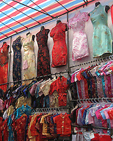 Traditional Chinese-style dresses at the Ladies Market, Hong Kong