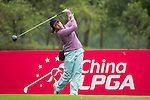 Saraporn Chamchoi of Thailand tees off at the 12th hole during Round 2 of the World Ladies Championship 2016 on 11 March 2016 at Mission Hills Olazabal Golf Course in Dongguan, China. Photo by Victor Fraile / Power Sport Images