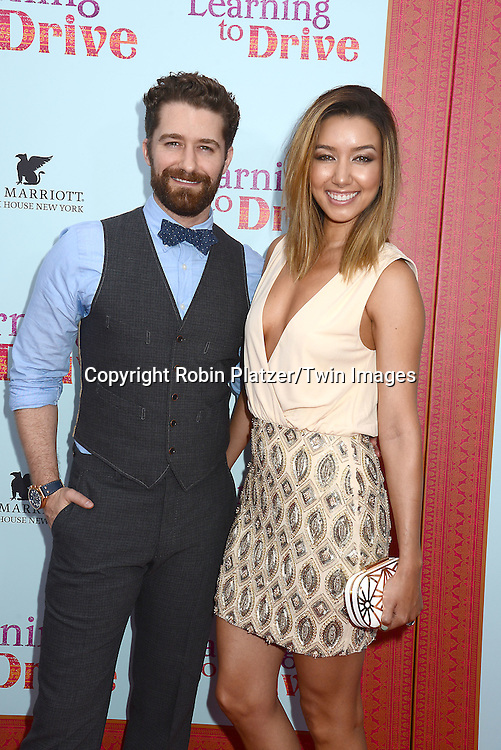 Matthew Morrison and wife Renee Puento attends the NewYork VIP Premiere of &quot;Learning to Drive&quot;<br /> on August 17, 2015 at The Paris Theatre in New York City, New York, USA. <br /> <br /> photo by Robin Platzer/Twin Images<br />  <br /> phone number 212-935-0770
