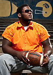 George Washington High School football player Sharrif Floyd on June 17, 2009 in Philadelphia, Pennsylvania.