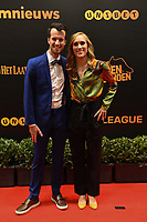 20190116 – PUURS ,  BELGIUM : Janice Cayman (R) pictured during the  65nd men edition of the Golden Shoe award ceremony and 3th Women's edition, Wednesday 16 January 2019, in Puurs Studio 100 Pop Up Studio. The Golden Shoe (Gouden Schoen / Soulier d'Or) is an award for the best soccer player of the Belgian Jupiler Pro League championship during the year 2018. The female edition is the thirth one in Belgium.  PHOTO DIRK VUYLSTEKE | Sportpix.be