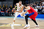 Real Madrid Rudy Fernandez and CSKA Moscow Nikita Zurbanov during Turkish Airlines Euroleague match between Real Madrid and CSKA Moscow at Wizink Center in Madrid, Spain. November 29, 2018. (ALTERPHOTOS/Borja B.Hojas)