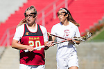 Los Angeles, CA 04/22/16 - Lydia Sutton (USC #20) in action during the NCAA Stanford-USC Division 1 women lacrosse game at the Los Angeles Memorial Coliseum.  USC defeated Stanford 10-9/