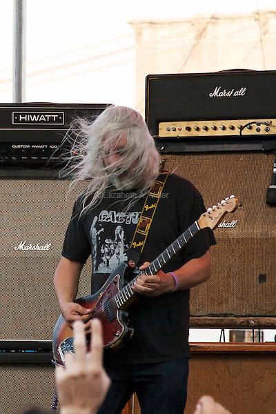 Dinosaur Jr performs at the 4 Knots Festival at South Street Seaport in New York City on July 12, 2014.