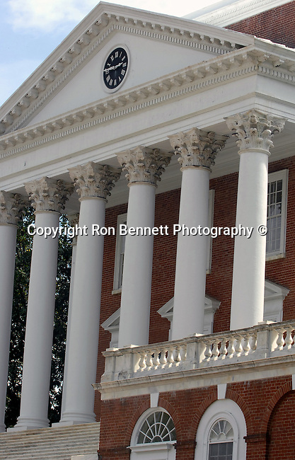 Rotunda University of Virginia (UVA) which was the original library building at the head of Thomas Jefferson Academicals Village,