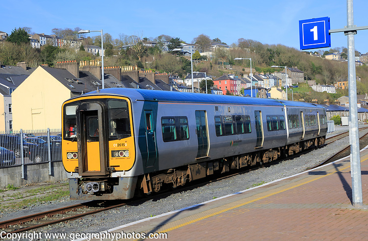 Local train at railway station, Cork, County Cork, Ireland, Irish Republic