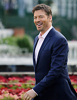 LOUISVILLE, KY - MAY 06: Harry Connick Jr. before singing the national anthem on Kentucky Derby Day at Churchill Downs on May 6, 2017 in Louisville, Kentucky. (Photo by Candice Chavez/Eclipse Sportswire/Getty Images)